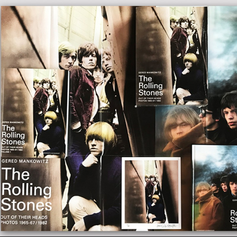 Signed Rolling Stones Photograph Book Set by Gered Mankowitz