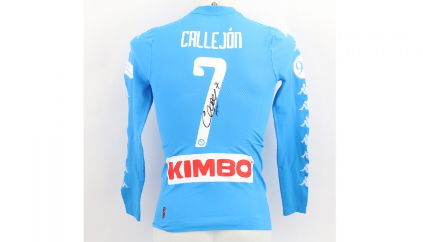 Callejon's Match Shirt, Napoli-Nice 2016 - 90th Anniversary Patch