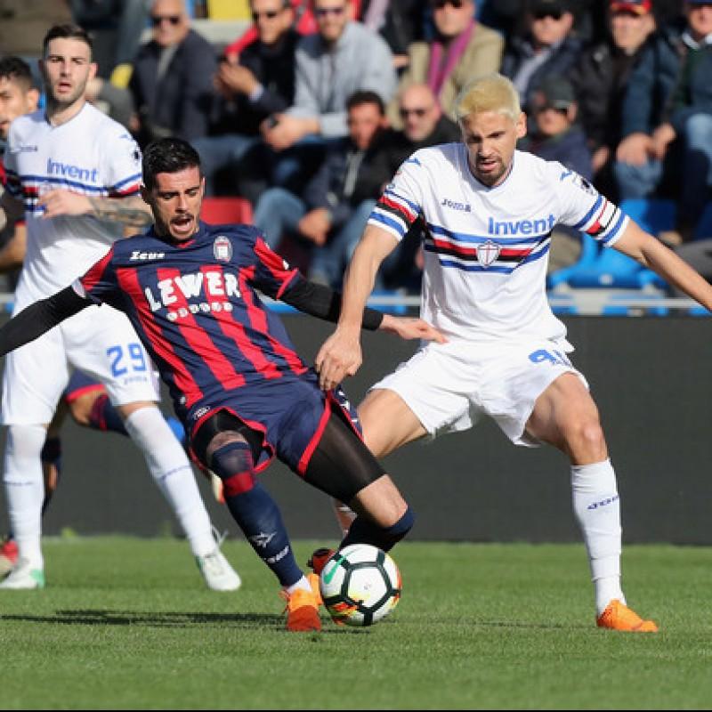 Maglia Gaston Ramirez indossata Crotone-Sampdoria 2018 - Patch Ciao Davide