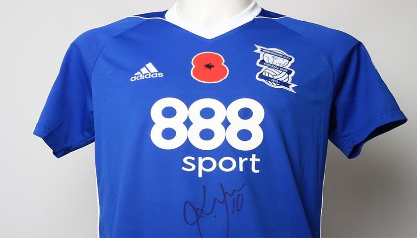 Poppy Shirt Signed by Birmingham City FC's Lukas Jutkiewicz
