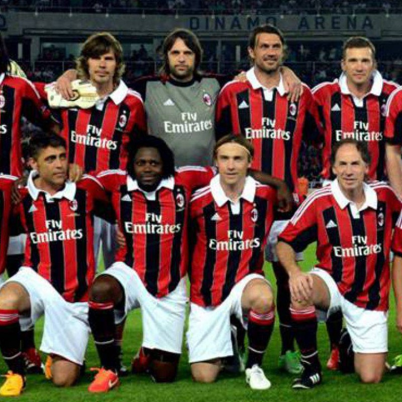 Baresi's Official Milan Glorie Signed Shirt, 2012/13