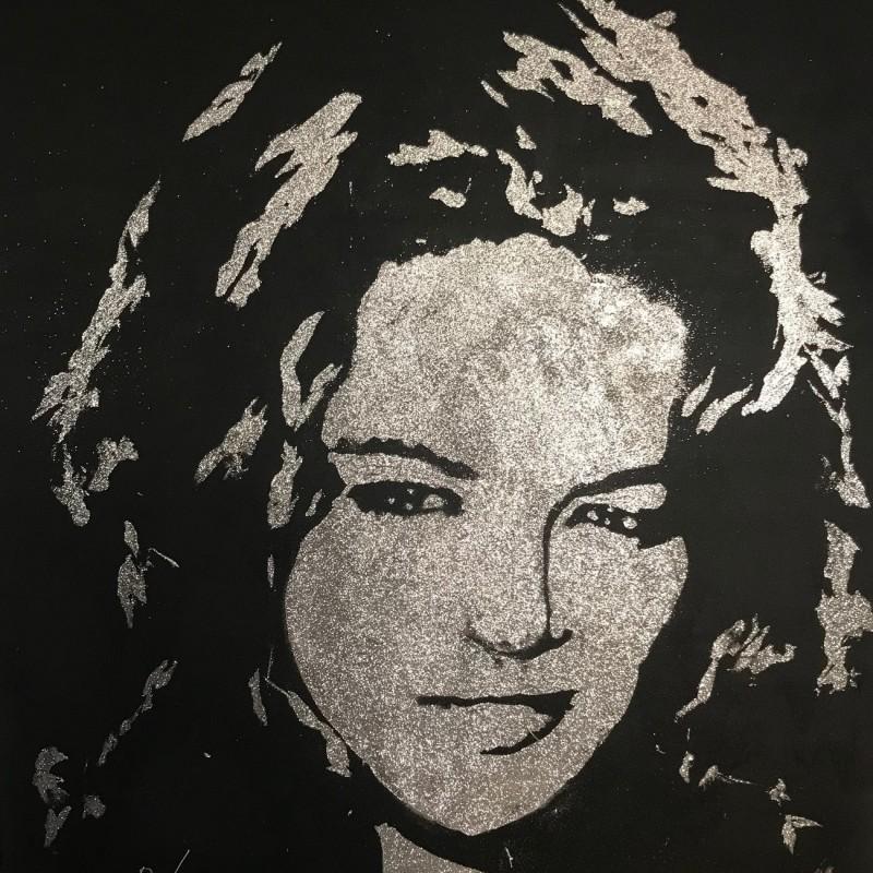 Michelle Rodriguez Painting by Erik Black Painting