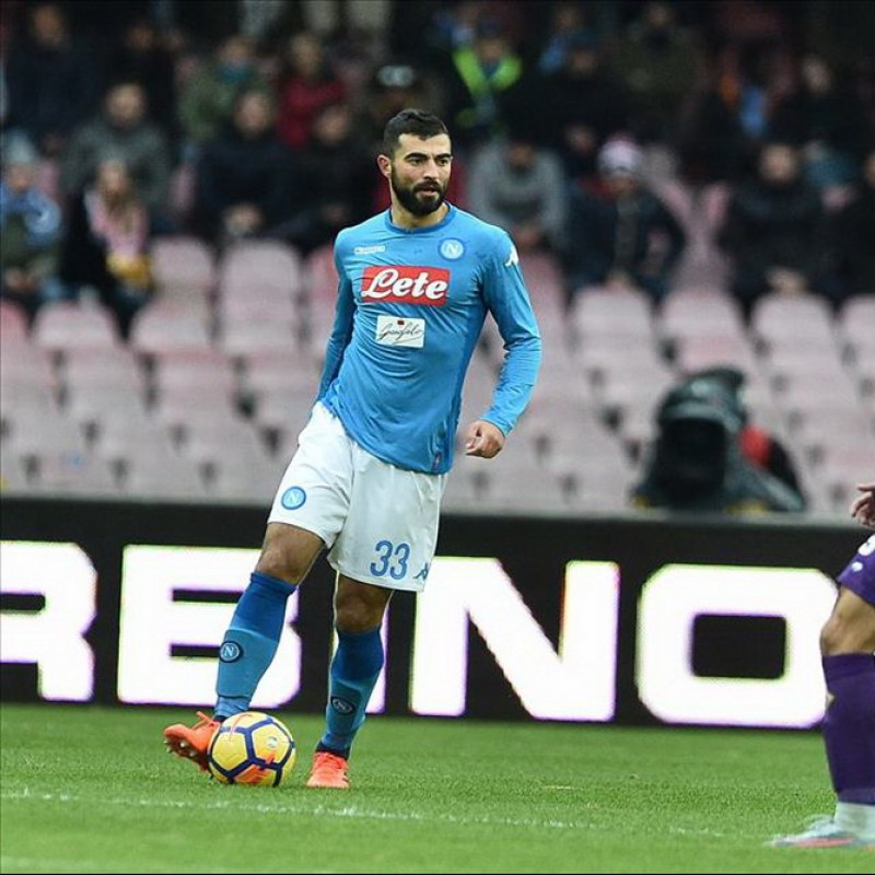 Albiol's Napoli Worn and Signed Shirt 2017/18 - Unwashed