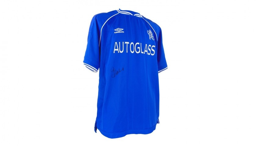watch 26127 95388 Chelsea Shirt 2000/2001 Season, Signed by Gianfranco Zola - CharityStars