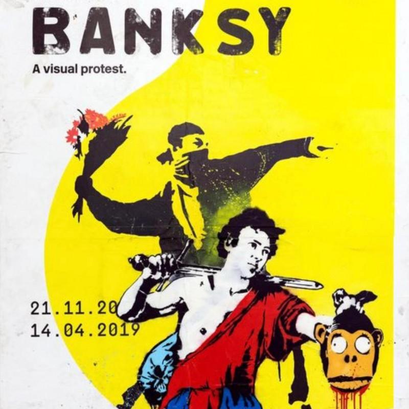 """""""Banksy manifesto not authorized"""" by Mr. Brainwash"""
