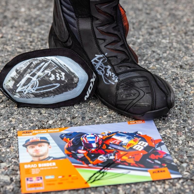 Signed Brad Binder Boot, Slider & Signature Card