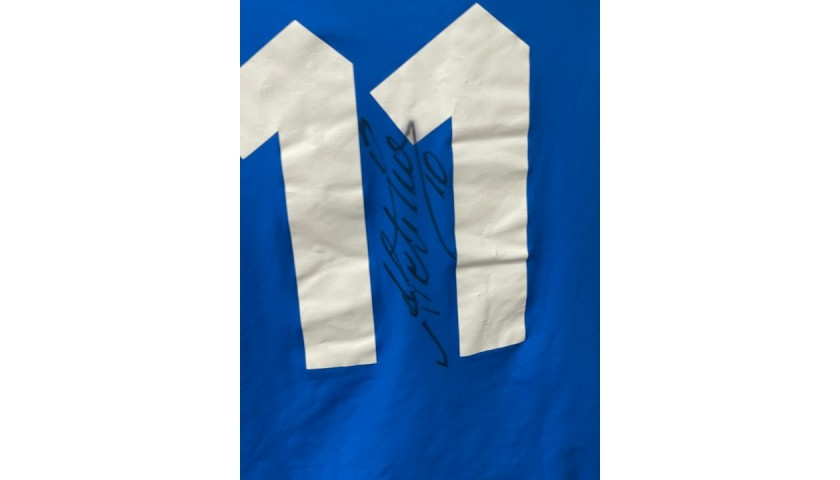 Doni's Italy Match Shirt, 2002 - Signed by Del Piero