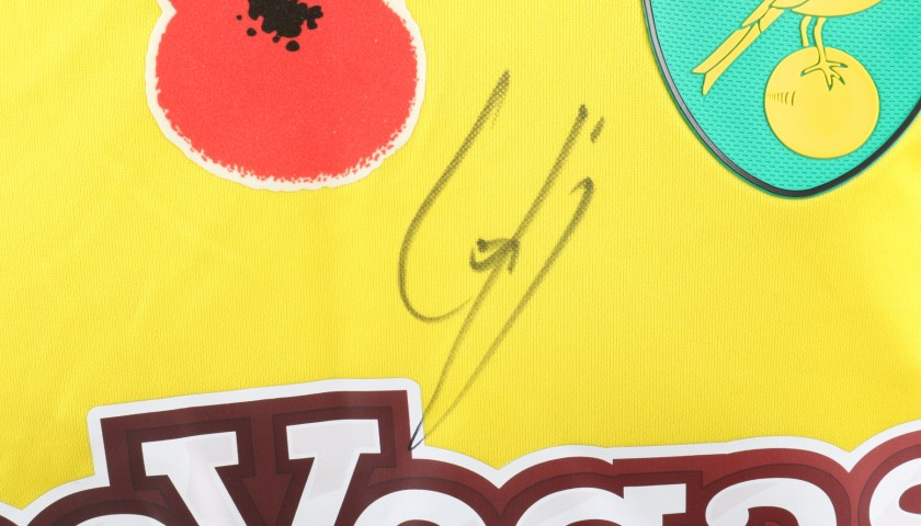 beec9c4ed Trybull s Worn and Signed Norwich City Poppy Shirt - CharityStars