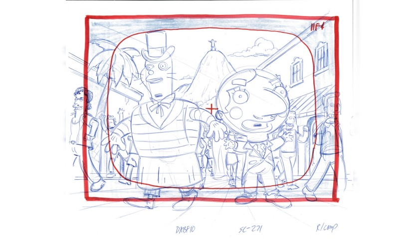 The Simpsons - Original Drawing of Group of Characters