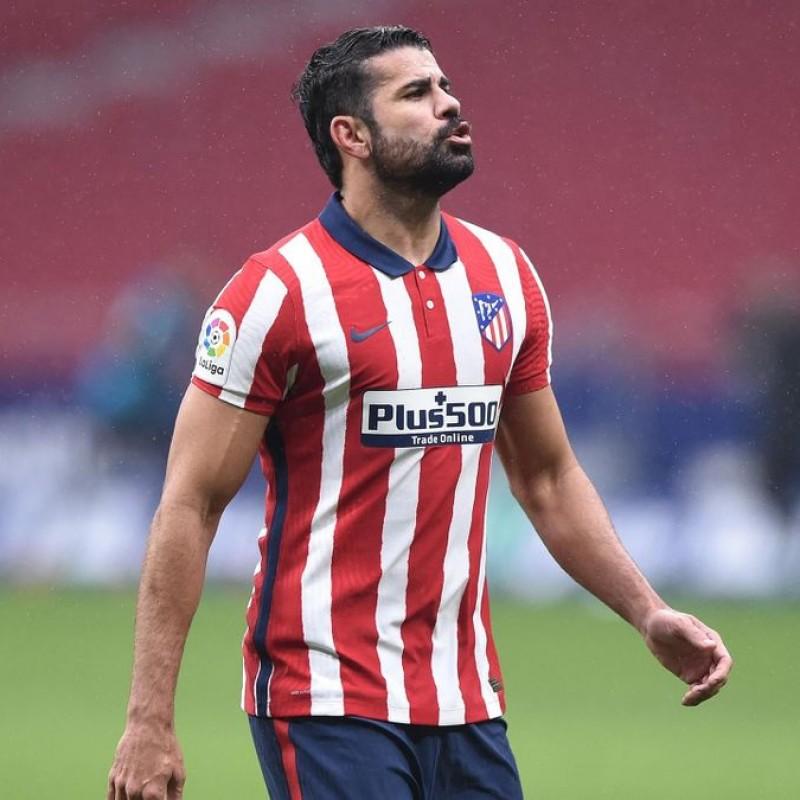 Diego Costa's Atletico Madrid Match Shirt, 2020/21