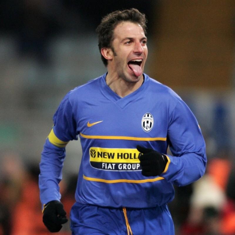 Del Piero's Signed Match Shirt, Lazio-Juventus 2007