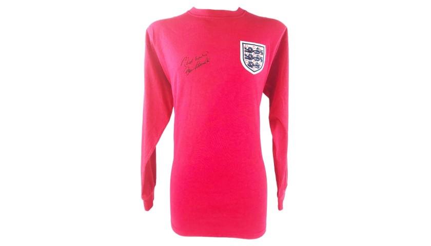 Moore's Retro England Shirt, 1966 - Signed by Bobby Charlton