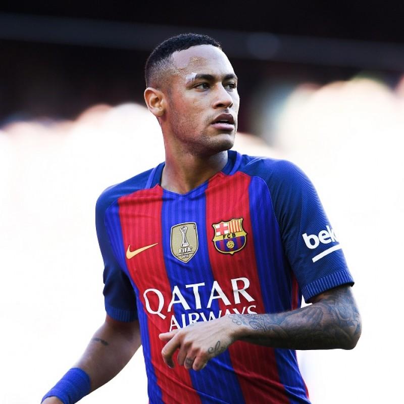 Official Neymar Barcelona Signed Shirt, 2016/17