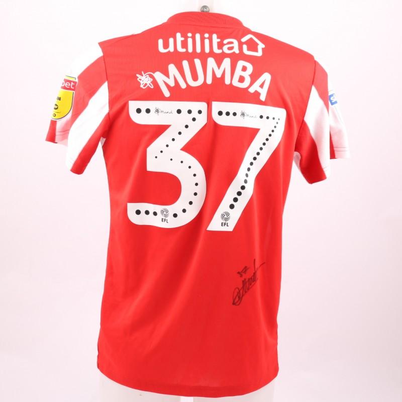 Mumba's Sunderland AFC Worn and Signed Poppy Shirt