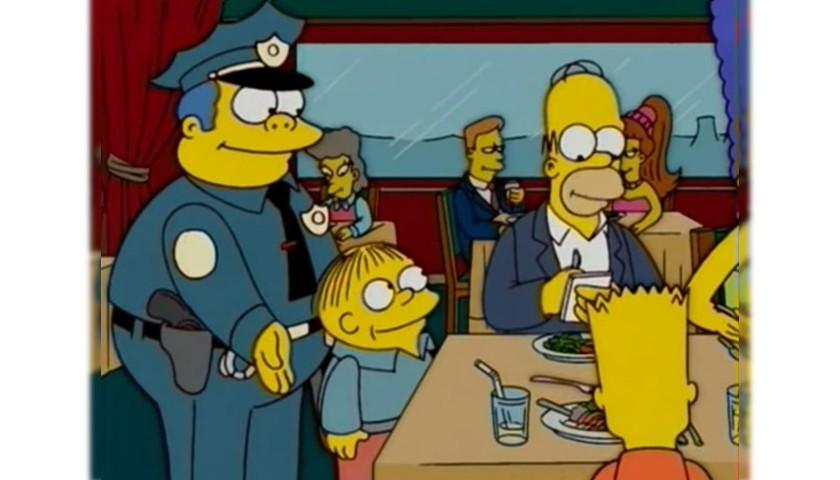 The Simpsons - Original Drawings of Homer Simpson and Ralph Wiggum #2