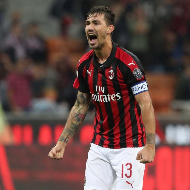 Romagnoli's Milan Match Shirt, Serie A 2018/19