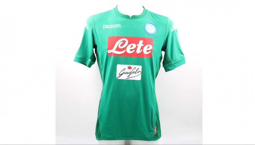 87511a77b88 Reina s Signed Match-Issued 2017 18 Napoli Shirt - CharityStars