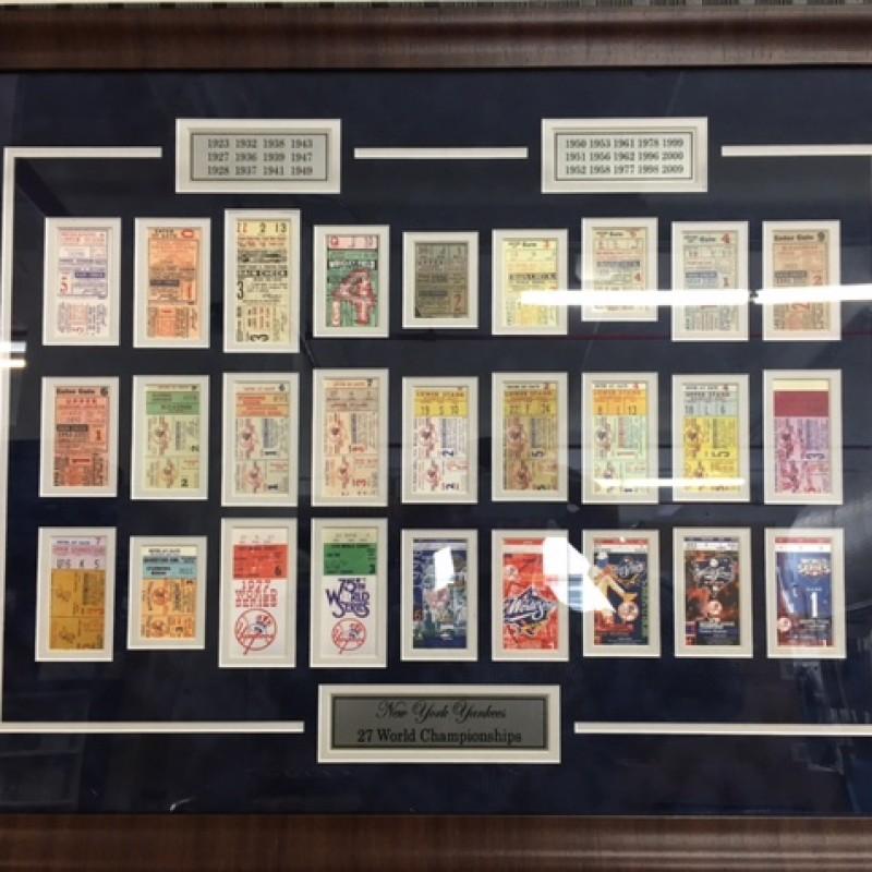 "New York Yankees ""27 World Championship Tickets"" Collage"
