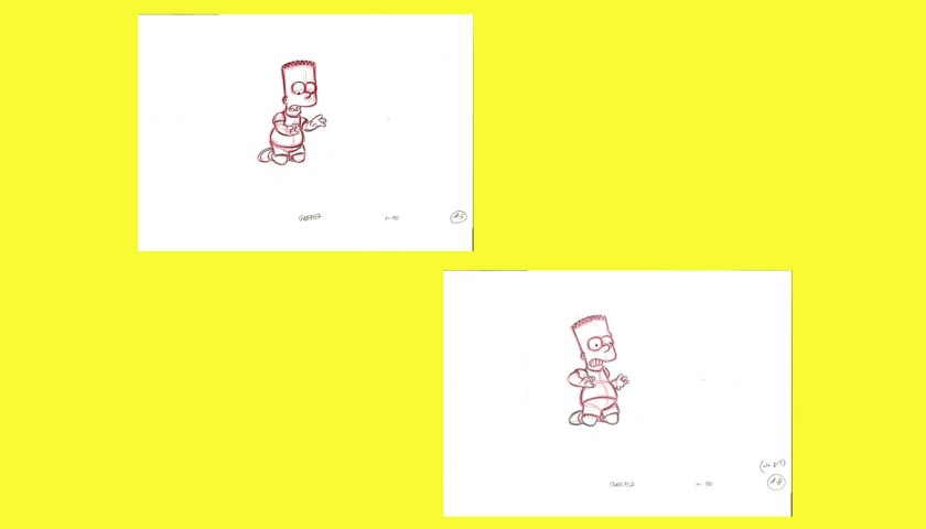 The Simpsons - Original Drawings of Bart Simpson