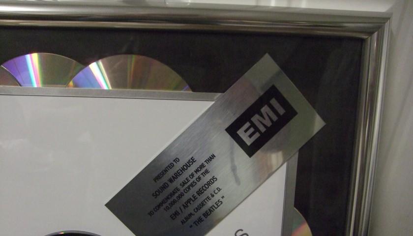 1e27560d The Beatles Sound Warehouse Platinum Disc - CharityStars