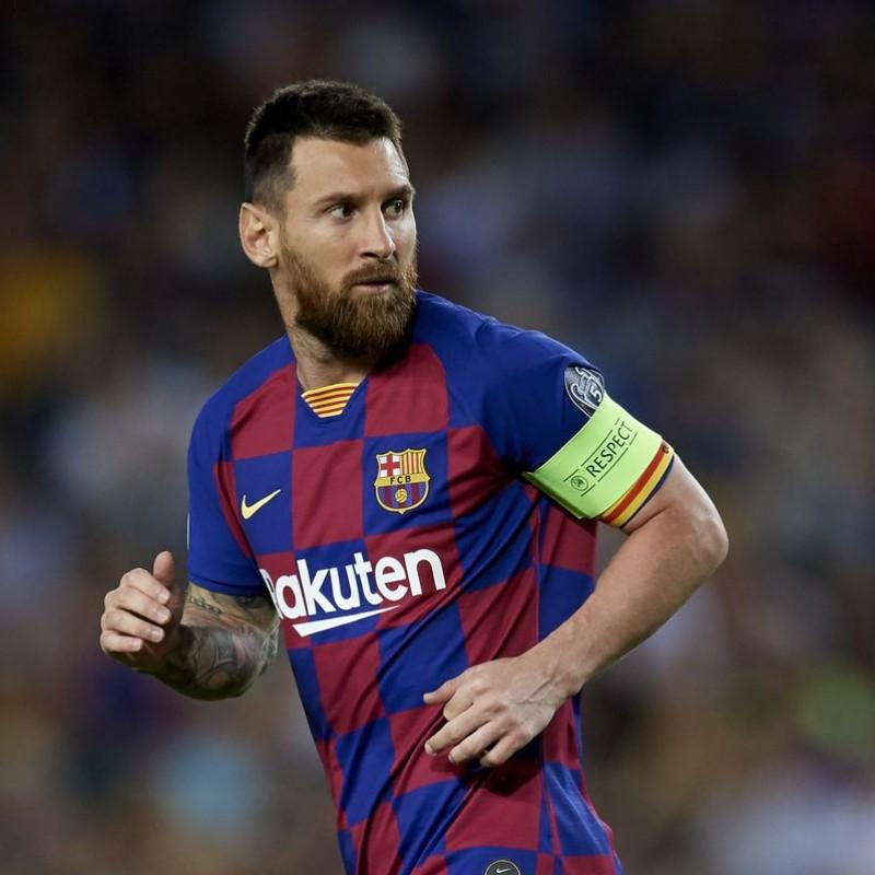 Pallone Match-Ball UCL 2019/20 - Autografato da Messi