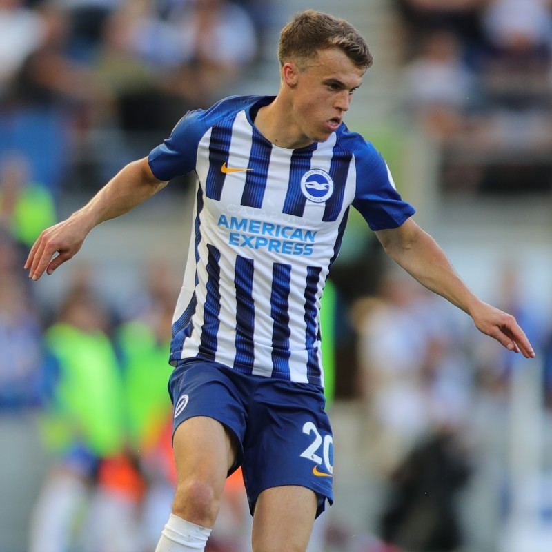 Solly March's Brighton & Hove Albion Match-Issued and Signed Shirt, 2019/20