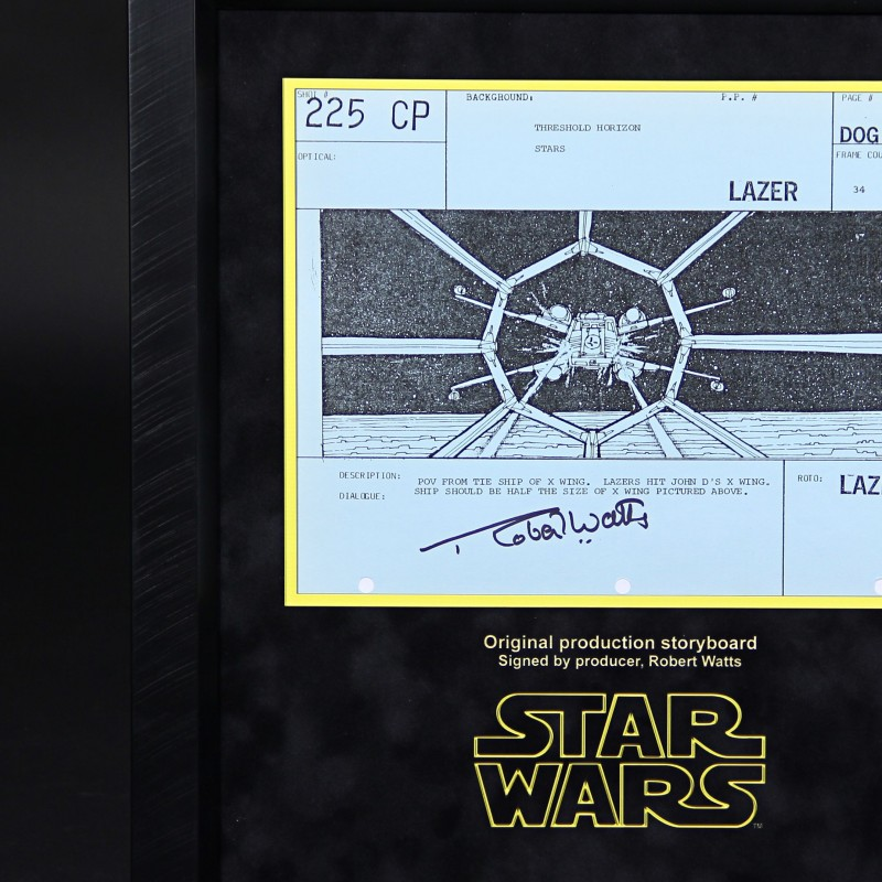 A signed Production Storyboard from Star Wars Ep IV 'A New Hope'