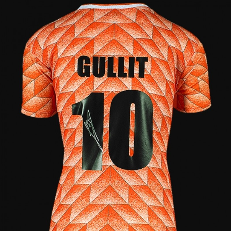 Ruud Gullit Back Signed Netherlands 1988 Home Shirt