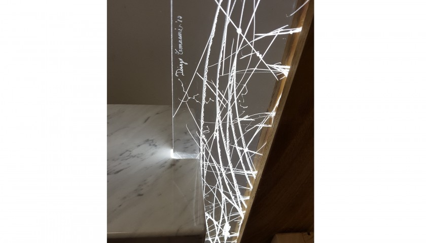 """""""Percorsi di materia e luce"""" light sculpture by Diego Tomasoni"""