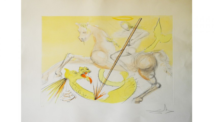 """""""Saint George and the Dragon"""" by Salvador Dalì"""