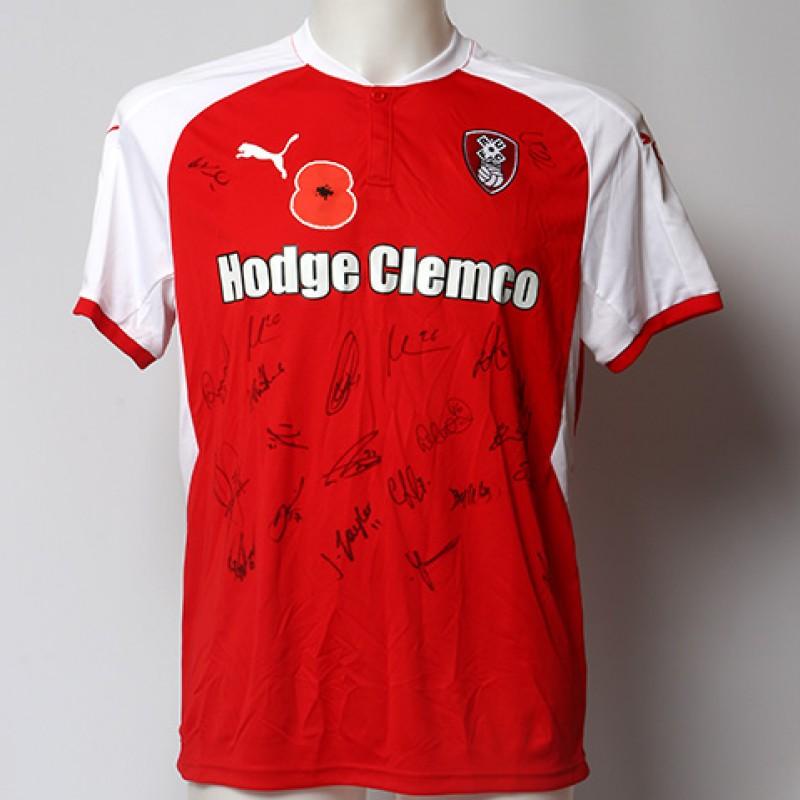 Poppy Shirt Signed by Rotherham United F.C.