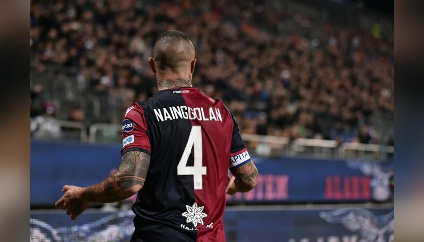 Nainggolan's Signed Shirt with Unicef Patch, Cagliari-Sampdoria