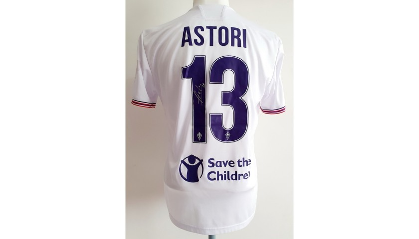 Astori's Fiorentina Match-Issued Signed Shirt, 2016/17