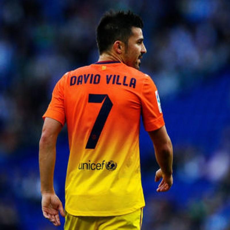 Villa's Official Barcelona Signed Shirt, 2012/13 Season