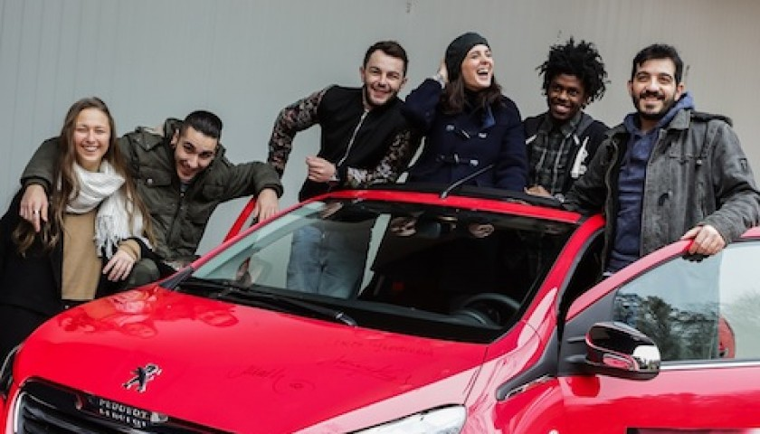 The X Factor Peugeot 108 signed by the finalists and the judges