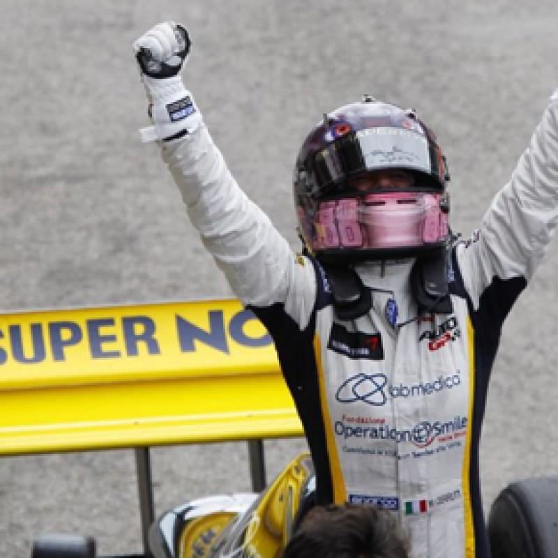 Racing gloves worn by MIchela Cerruti - signed, Auto GP Imola 2014