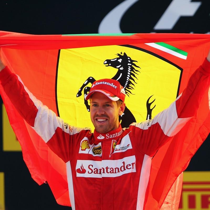 Vettel's Signed Ferrari Hat
