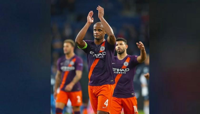 Kompany's Manchester City Match Shorts, Champions League 2018/19