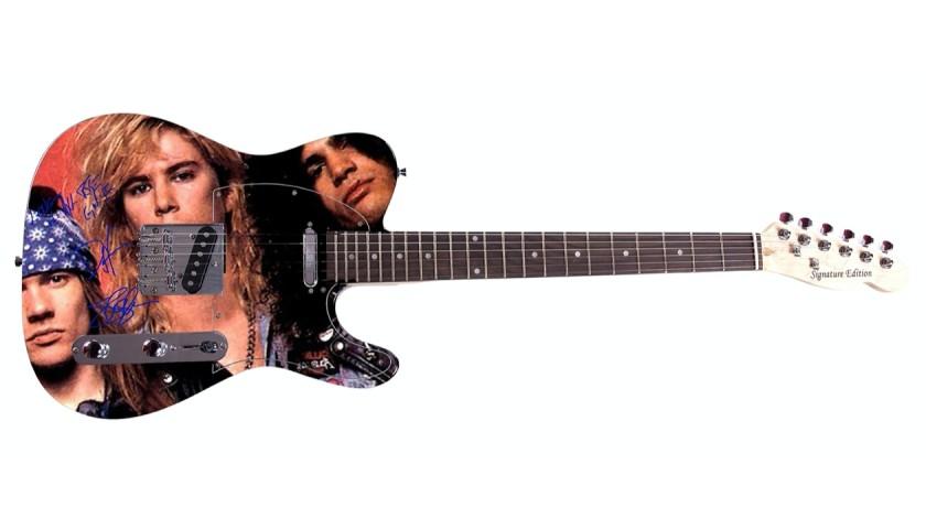 Guns N' Roses Guitar with Digital Signatures