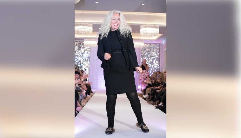 Black Armani Collezioni Jacket Worn by Debbie Bright