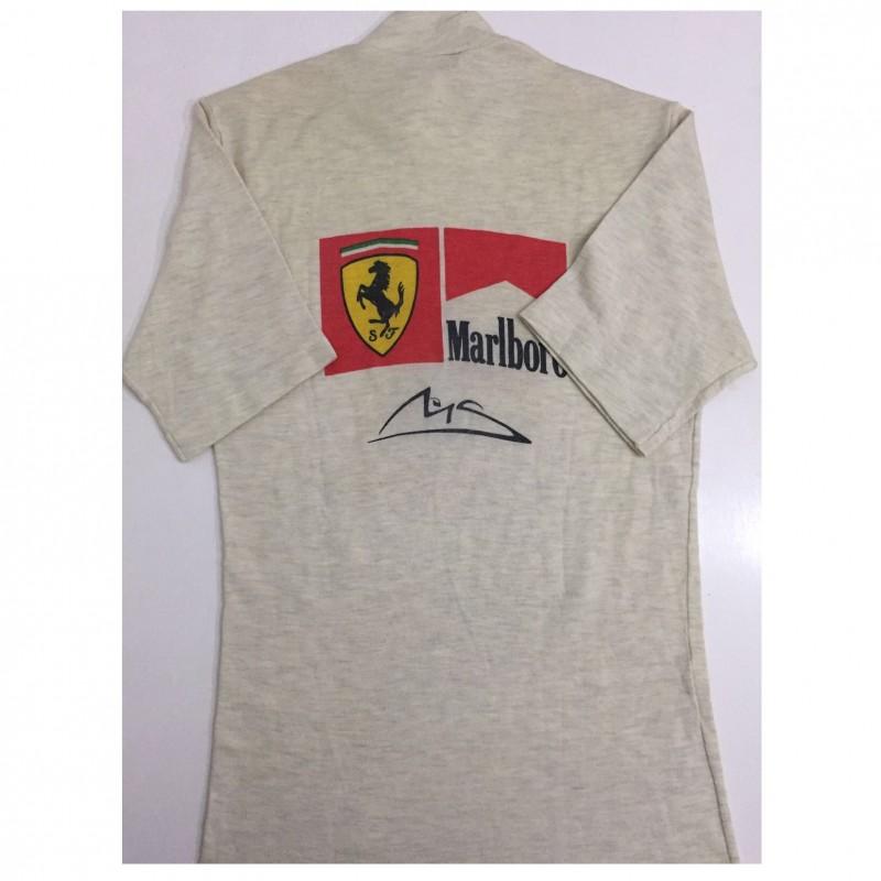 Michael Schumacher's 2004 Worn Ferrari/Marlboro Race Shirt