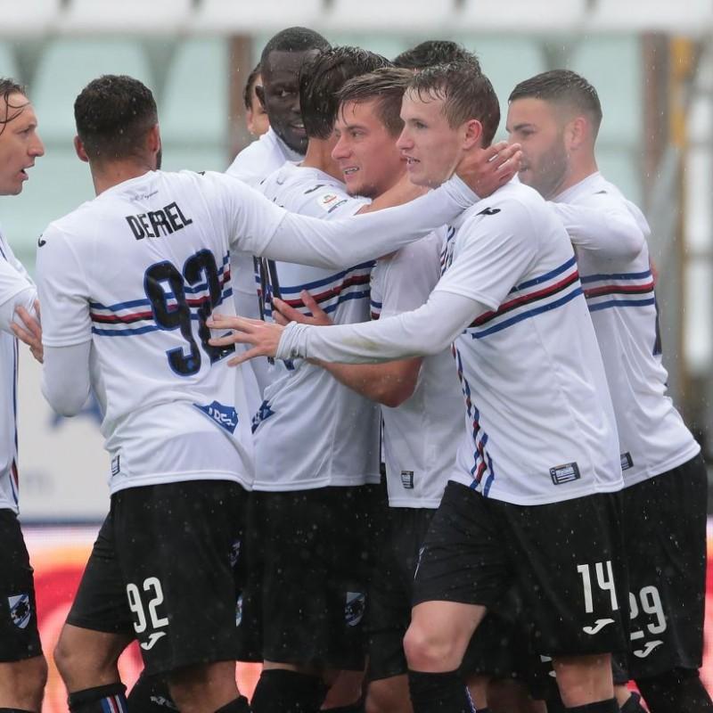 Jankto's Worn Shirt, Parma-Sampdoria - #Blucrociati