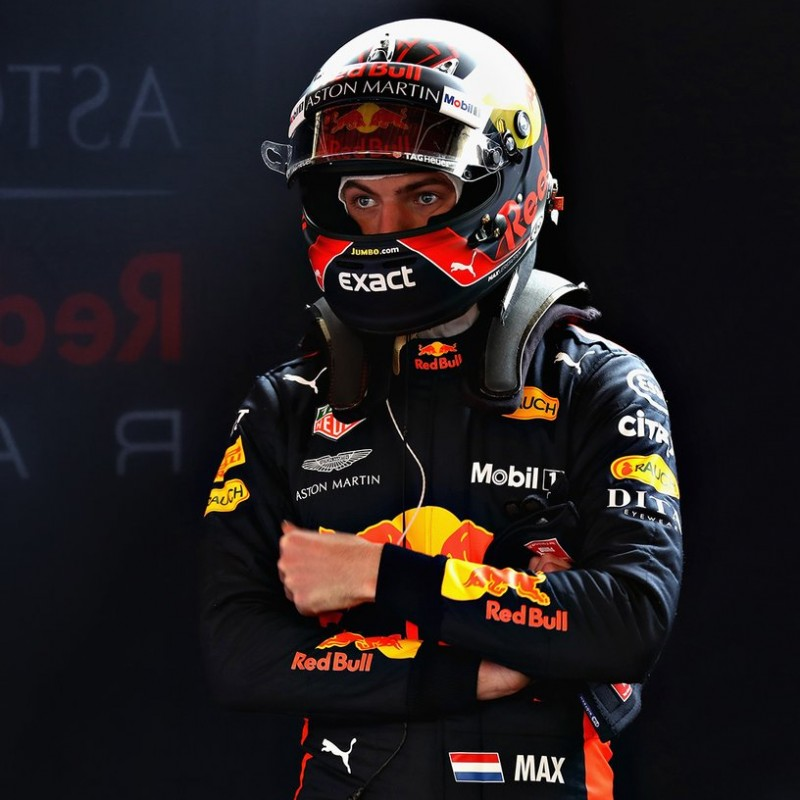 Official Red Bull Cap Signed by Max Verstappen