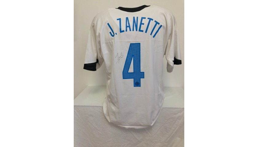 Zanetti's Official Inter Signed Shirt, 2005/06