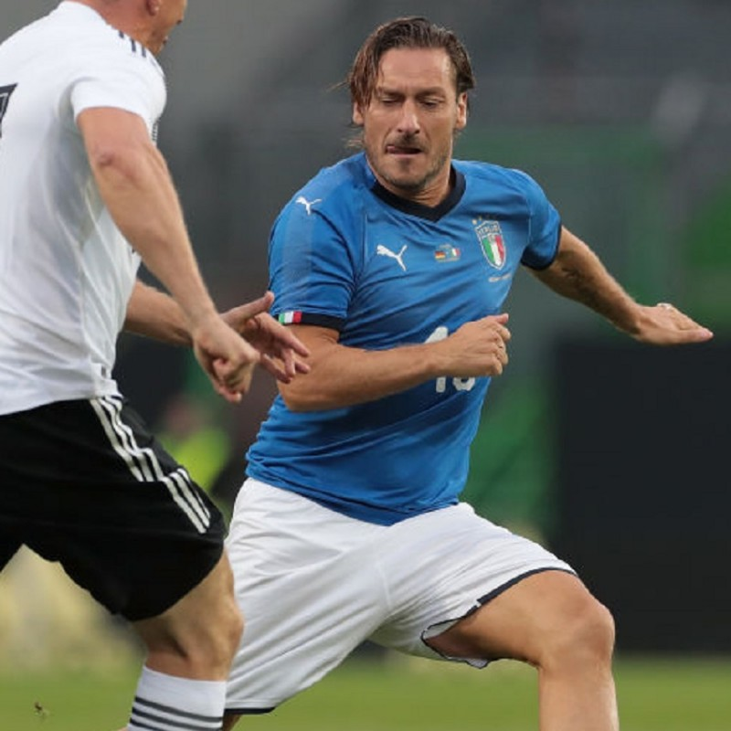 Totti's Match Shirt, Germany-Italy 2019  - Signed