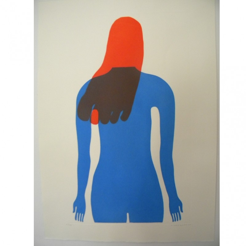 """""""INDIFESA"""" Aquatint by Guido Scarabottolo - Limited, Numbered and Signed Print"""