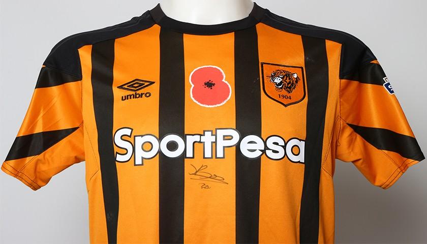 Match-Worn Poppy Shirt Signed by Hull City s Jarrod Bowen 1 2 - CharityStars 922f88f8b