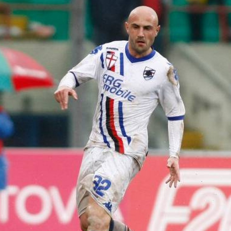 Maccarone's Official Sampdoria Match Shirt, 2011/12