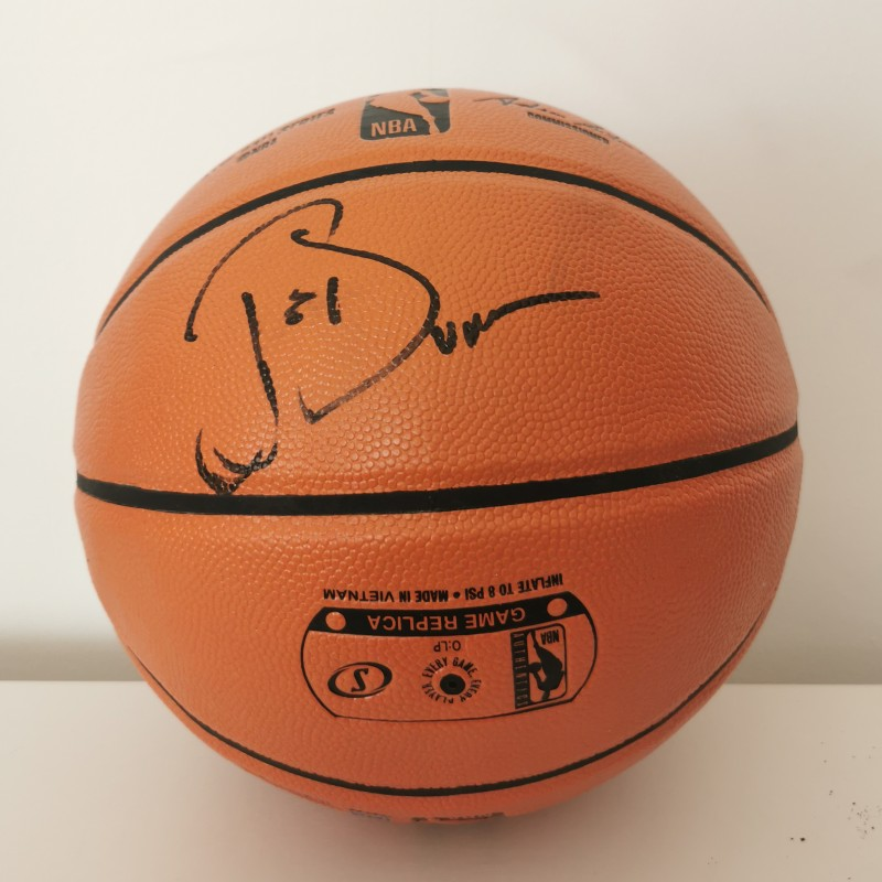 Joe Dumars' Detroit Pistons Signed NBA Ball