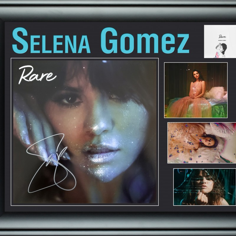 Selena Gomez Hand Signed, Custom Framed Album Display